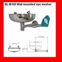 Yeni Varış Paslanmaz Çelik Duvara monte Acil Göz Yıkama duş Istasyonları
