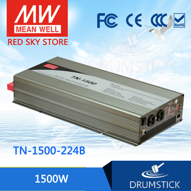 цена на Advantages MEAN WELL TN-1500-224B EUROPE Standard 230V meanwell  1500W True Sine Wave DC-AC Inverter with Solar Charger