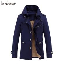 Plus Velvet 2017 Autumn Winter Fashion Brand Clothing Jacket Men Casual Slim Fit Mens Coat Thick Mens Jackets And Coats M-5XL