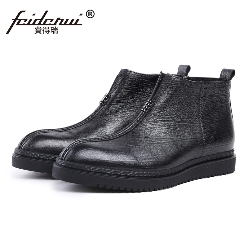 New Arrival Round Toe Flat Platform Man High-Top Riding Shoes Genuine Leather Handmade Mens Cowboy Ankle Boots For Male JS24New Arrival Round Toe Flat Platform Man High-Top Riding Shoes Genuine Leather Handmade Mens Cowboy Ankle Boots For Male JS24