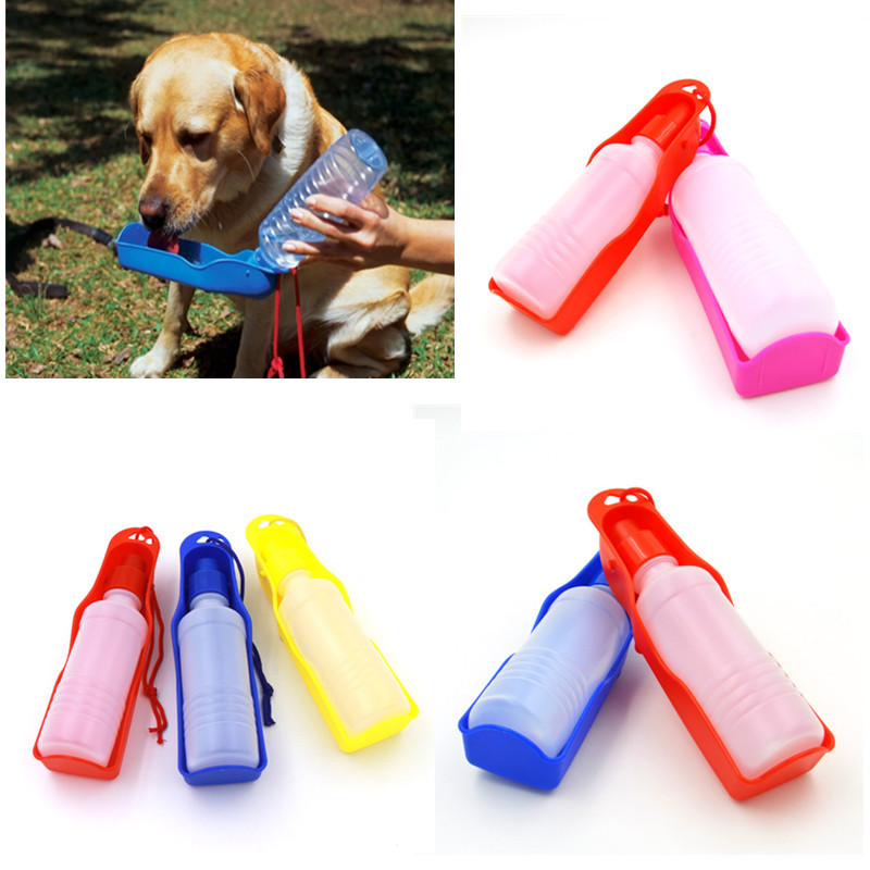 250ml Foldable Pet Dog Water Bottle Outdoor Travel: 1PC 250ml Dog Water Bottle Plastic Foldable Outdoor Travel