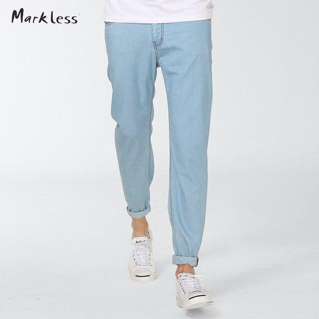 Sin marca de Moda Pantalones Vaqueros Lavados de Los Hombres de ... a5751ae24dda