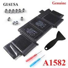 GIAUSA Echt A1582 batterij voor macbook pro 13 A1502 batterij 2015 retina 74.9wh Gratis Tools Base Schroeven