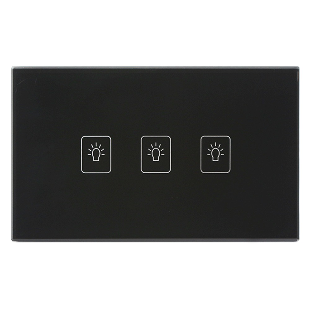 Touch Switch US Standard 3 Gang 2 Way Light Switch Touch Screen wall
