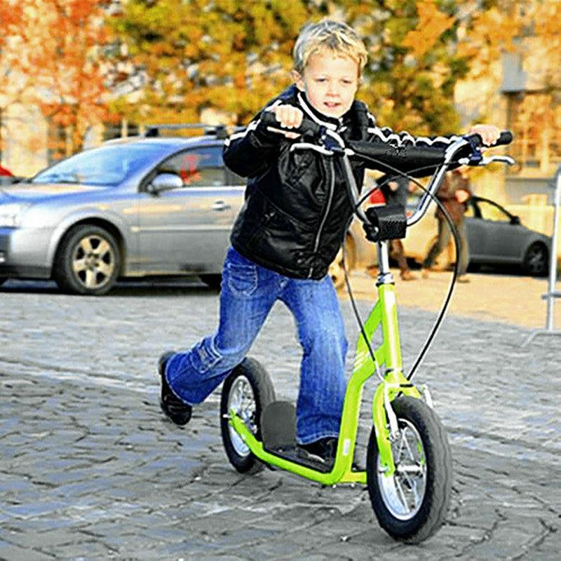 Scooter d'enfant de sortie d'usine, scooter adulte de grande roue de 12 pouces, taille ajustent le scooter d'enfant avec la roue en caoutchouc, scooter adulte de frein à main