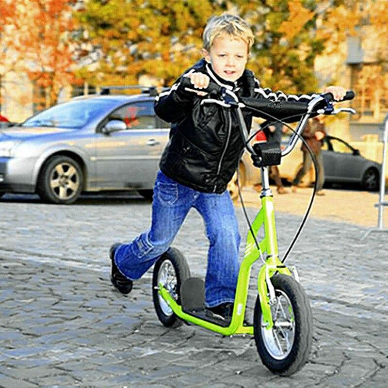 Factory outlet enfant scooter, 12 pouces grande roue adulte scooter, hauteur ajuster enfant scooter avec roue en caoutchouc, frein à main adulte scooter