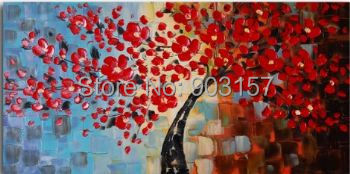 Hand Painted Wall Painting Bouquet of textured red-Floral Oil Painting Wall Art-Modern Canvas Wall Pictures for Living Rooms