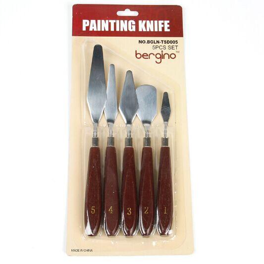 5pcs/set Artist Oil Painting Knife Palette Utility Knife Set Mixed Scraper Set Spatula Knives  Stainless Steel