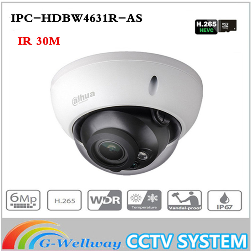купить New ahua 6MP Camera IPC-HDBW4631R-AS Upgrade from IPC-HDBW4431R-AS Support IK10 IP67 Audio &Alarm Port PoE Camera With SD Slot по цене 4512.35 рублей