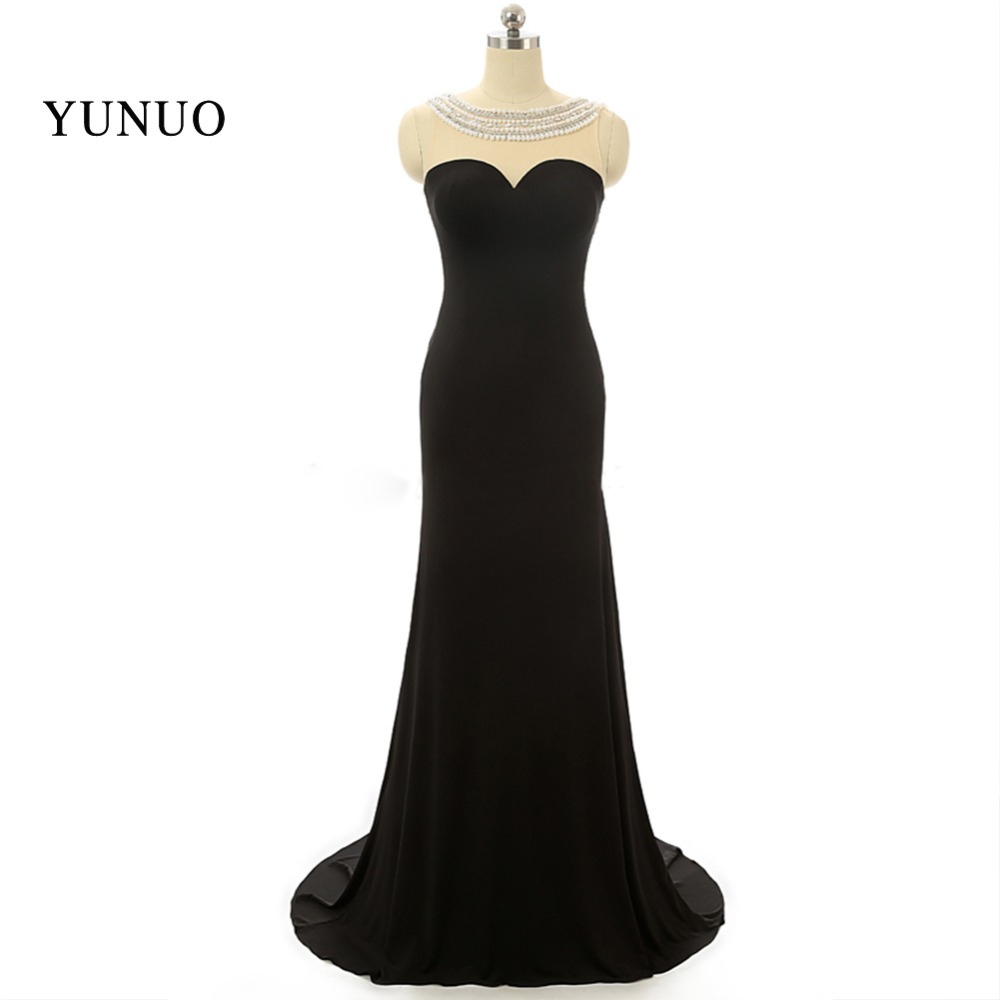 8179430ff5 Najlepiej Sprzedający Się vestido de festa Scoop Frezowanie Szyfonowa  Blackless Eleganckie Sexy suknie Wieczorowe Prom Dresses 2018