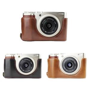 Кожаный чехол для камеры Fujifilm XF10 XT2 XT3 XT100 XA5 XT10 XT20 XT30 X100F XA1 XA2 XA3 XA10 XF10 X100S T Нижняя сумка