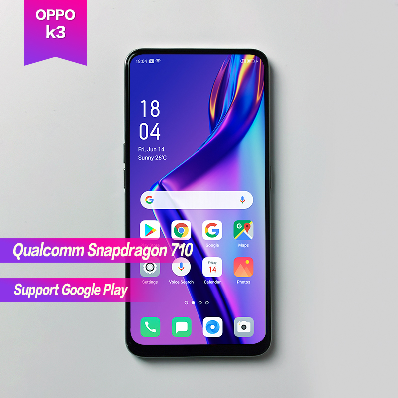 "OPPO K3 6.5""Full Screen Snapdragon 710 Octa Core 3765mAh 2340*1080 Fingerprint+Face ID 3 cameras 16MP+16MP+2MP 1080P VOOC3.0"