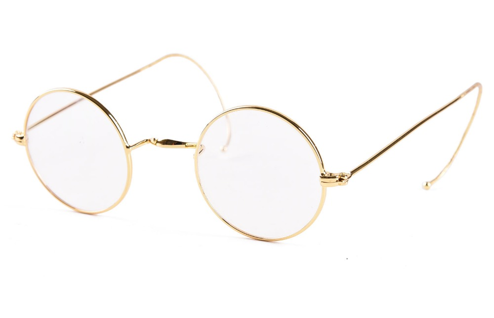 AGSTUM 39mm Round Vintage Antique Wire Reading Glasses Reader Eyeglass+0.25 +0.5 +0.75 +1.0 +1.25 +1.5 +1.75