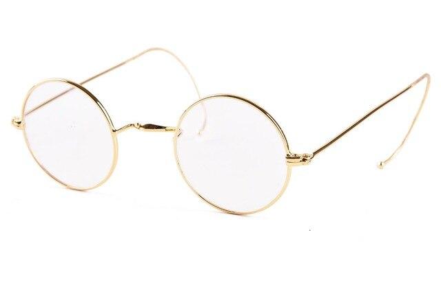 AGSTUM 39mm okrągły Vintage Antique Wire okulary do czytania czytnik okularów + 0.25 + 0.5 + 0.75 + 1.0 + 1.25 + 1.5 + 1.75
