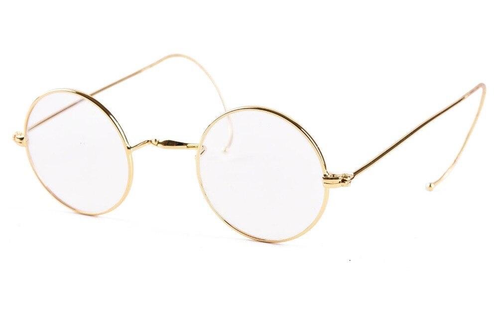 Agstum 39mm redondo fio antigo do vintage óculos de leitura leitor + 0.25 0.5 0.75 1.0 1.25 1.5 1.75