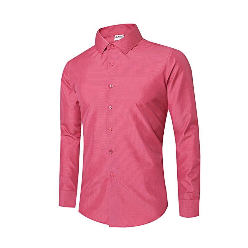 Smakke Mens Oxford Casual Shirts Non-Iron Plaid Social Shirts Long Sleeve Dress Shirt