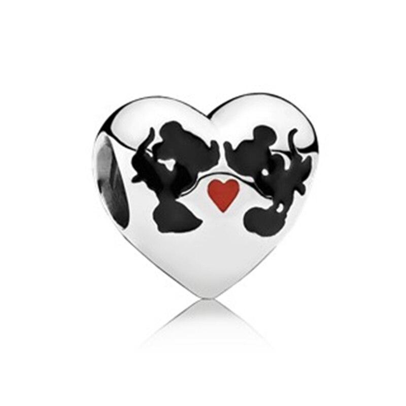 Новинка,,, бусинка из ленты, Микки Маус, сказка, Дамбо, любовь, шарм, подходит для Пандоры, браслет, ожерелье, сделай сам, женское ювелирное изделие, подарок - Цвет: C042