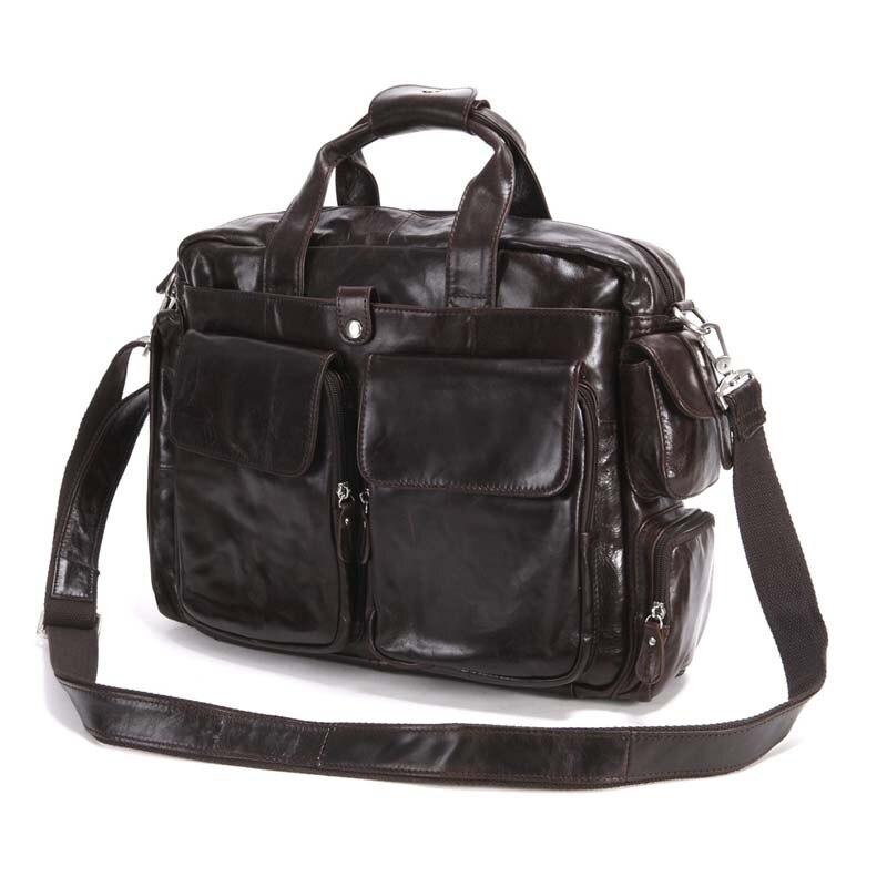 AETOO el nuevo bolso vintage de cuero genuino de los hombres bolso retro crazy horse marrón mensajero bolso de viaje de ocio hombres - 3