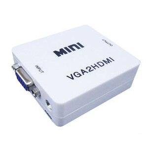 Image 3 - HFES Neue Heiße Mini VGA zu HDMI Konverter Mit Audio VGA2HDMI Adapter Stecker Für Projektor PC Laptop zu HDTV