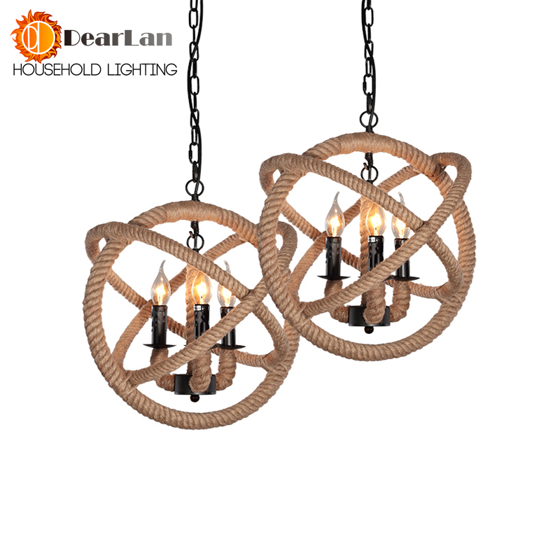 Vintage Pendant Lamp Loft Northern Europe American Retro Countryside Pendant Lights With 3 Lights For Dinning Room,Living Room high quality branch shape iron reminisced pendant lamp loft northern europe american vintage retro country pendant light