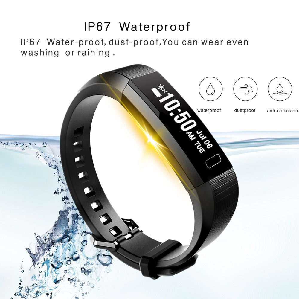 Digital watch top sport watch Heart rate Pedometer Information reminder Fitness men digital watch men woman Smart bracelet