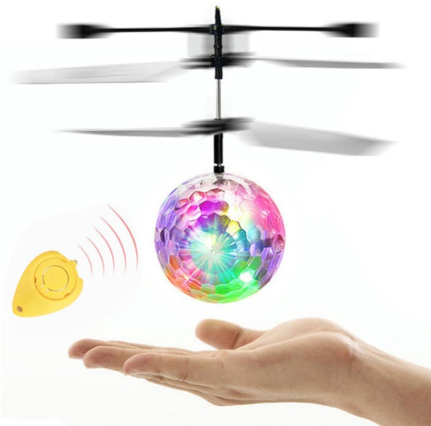 RC Flying Ball Luminous Kid's Flight Balls Electronic Infrared Induction Aircraft Remote Control Toys LED Light Mini Helicopter(China)