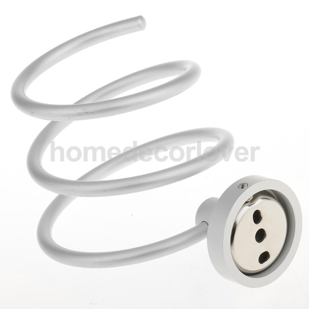 E Aluminum Salon Bathroom Toilet Hair Dryer Er Bracket Spiral Holder Wall Mounted Organizer Drier Storage Rack Shelf In Holders Racks From
