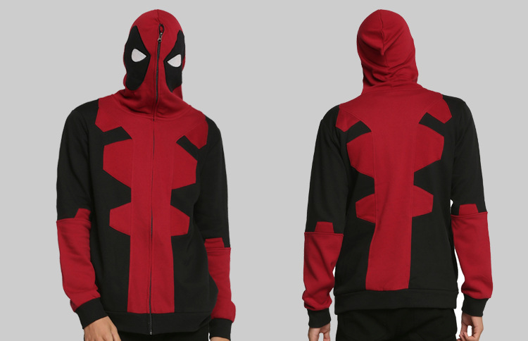 Marvel Jacket Sweatshirt Halloween Costumes For Women hoodie zip Men lady adult deadpool cosplay costume movie