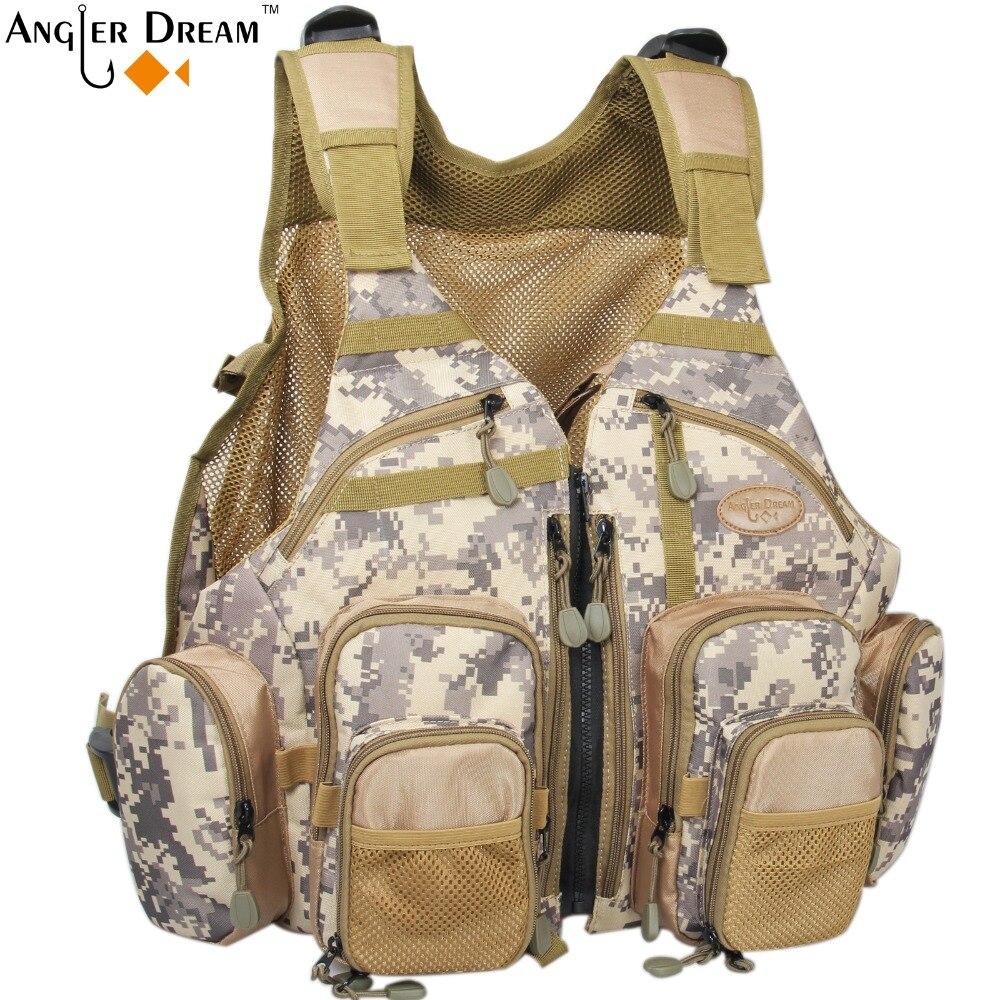 High Quality Camo Fly Fishing Vest Adjustable Size Mesh Vest