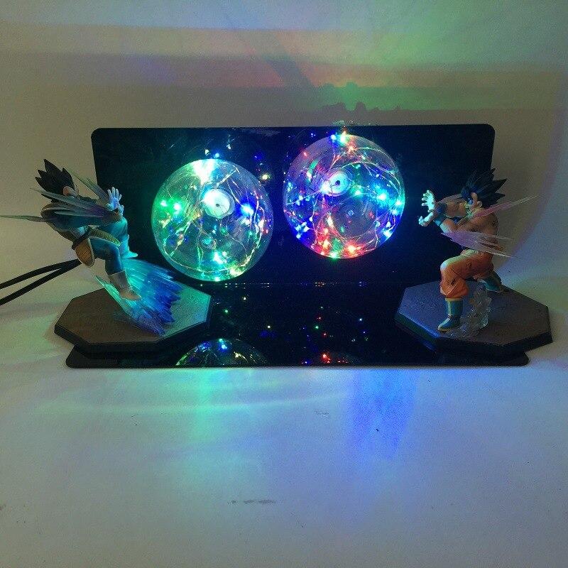 Аниме Dragon Ball Z фигурки, светодиодный Игрушка ночник Сон Гоку против Вегета, бои с эффектом бомбы, фигурка, Подарочные игрушки - 5
