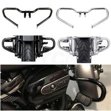 Motorcycle Chopped Engine Guard Crash Bar For Harley Touring Street Glide FLHX Road King FLHR 2014-2019 Black/Chrome