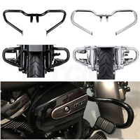 Motorcycle Chopped Engine Guard Crash Bar For Harley Touring Street Glide FLHX Road King FLHR 2014 2019 Black/Chrome