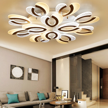 купить emote control living room bedroom modern led ceiling lights luminarias para sala dimming led ceiling lamp Fixturesm Living Room по цене 6316.42 рублей
