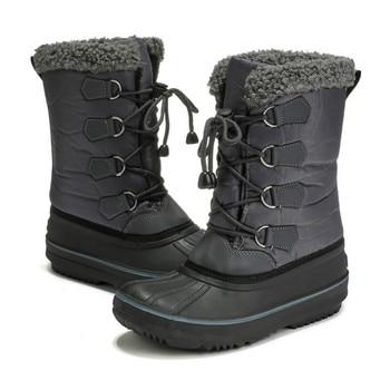 nuevo concepto ea90d e0530 Botas de nieve para niños, botas de invierno para niños, botas de invierno  para bebés, zapatos impermeables para nieve, botas de nieve informales de  ...