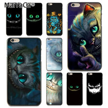 MaiYaCa Bonito do olho de gato de cheshire de alice Moda à venda Caso de Telefone de Luxo para Apple iphone 11 pro 8 7 66S mais X 5S SE XS XR XS MAX(China)