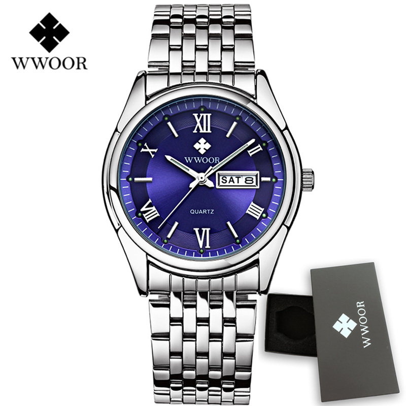 Mens Watches Top Brand Luxury Quartz Men Watch Fashion Casual Stainless Steel Waterproof Men's Date Wristwatch Relogio Masculino top luxury brand full stainless steel watches men business casual ultra thin quartz wristwatch waterproof date relogio masculino