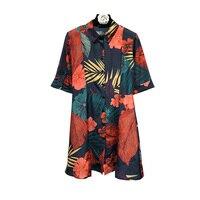 Bohemian Shirt Dress Romantic Women Dresses Short Sleeve Casual womens Sundress Print retro flower Beach Dress Summer 2018 New