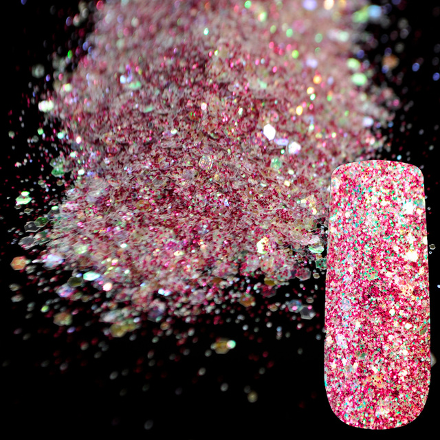 Purple Rainbow Glitter Mix UV Nail Art Glitter Acrylic Powder ...