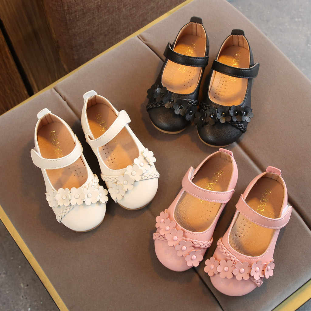 Children Shoes Toddler Baby Girls Shoe Fashion Casual Spring Shoe Flower Woven Hook&Loop Shoes Princess Toddler Single Sneakers
