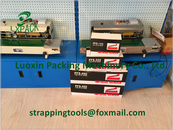 LX-PACK Brand Lowest Factory Price High Quality Continuous BandSealer / Film sealing machine / heatsealer lx pack lowest factory price 2 200g dosing packing intelligent machine powder bean tea peanut flour automatic packaging machine