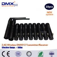 Dhl 무료 배송 전문 저렴한 블랙 미니 dmx 컨트롤러 무선 라이트 dmx 무선