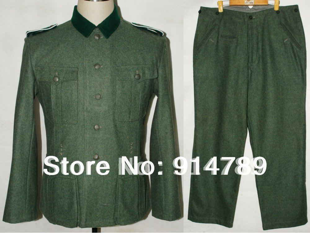 WWII GERMAN M36 EM WOOL FIELD UNIFORM TUNIC TROUSERS IN SIZES 32120