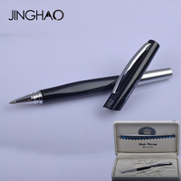 Unique Design Luxury Duke Rollerball Pen Black silver Metal 0.5mm Black Ink Gift Pens Writing Stationery with an Original Box