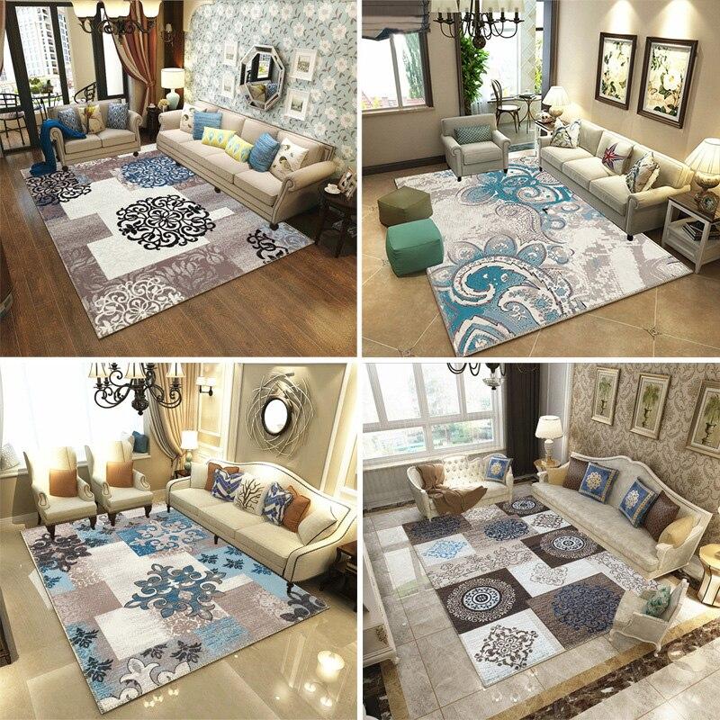Alfombras de estilo nórdico para sala de estar sofá mesa de centro estudio alfombra de noche modelo vitrina alfombras 3D alfombra de hogar impresa