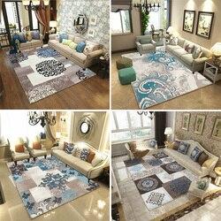 Estilo nórdico tapetes para sala de estar quarto sofá mesa café estudo cabeceira tapete modelo vitrine 3d impresso casa