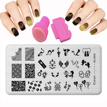 XL 25 Style Design nail stamping plates Set Small Chicken Dog DIY Steel Plate Patterns For Nails Stamp Nail Art Templates Knife