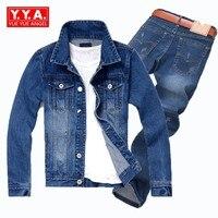 2018 Новый Омывается куртка Повседневное Для мужчин дизайнер плюс Размеры 5XL одежда с длинным рукавом мужской Пальто на молнии длинные джинсо