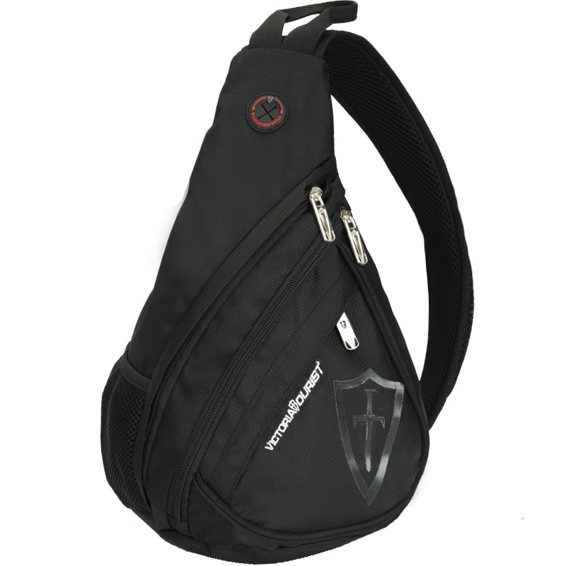 sacolas de nylon crossbody para Color : Black
