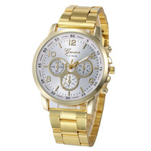 Hot Sale  Women Men Watches Gold Stainless Steel Analog Quartz Wrist Watch Clock Relogio Masculino Feminino 2017 new  Fashion