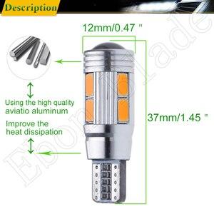 Image 3 - 2/4 Pcs T10 W5W 194 168 Car LED Light 5630 10SMD Canbus Error Free Auto Interior Side Turn Bulb Lamp Amber Yellow Oragne 12V DC
